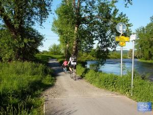 Začátek trasy A1 před Radotínem - v místě napojení na trasu č. 3