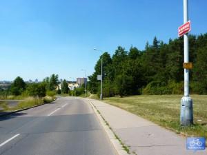 A112 na Barrandově směrem k Prokopskému údolí