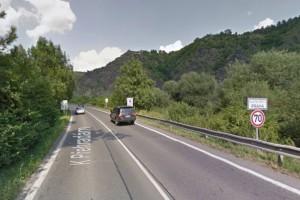 Začátek budoucí trasy A20 u osady Strnady (foto: Google Maps, 2014)