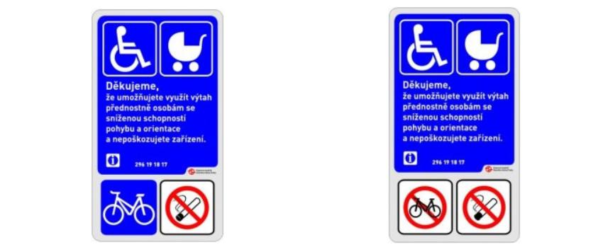 Pro přepravu jízdního kola lze použít vybrané výtahy