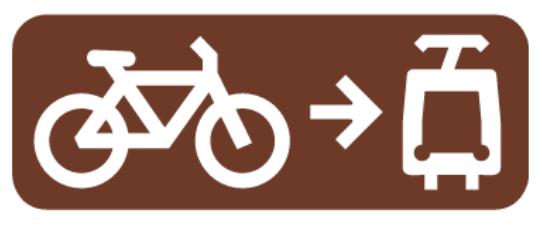 Tímto symbolem jsou označeny zastávky, kde je povolen nástup s jízdním kolem do tramvaje
