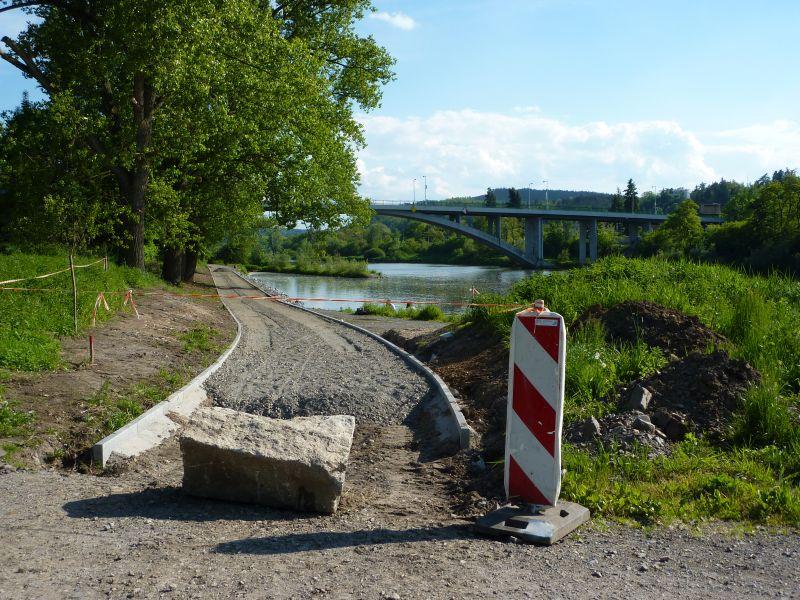 Stavba cyklostezky Zbraslav - Jarov